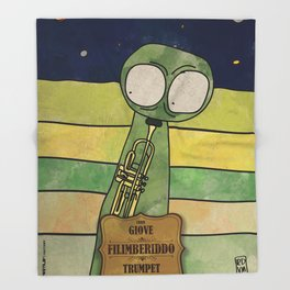 Filiberiddo from Jupiter (Trumpet) Throw Blanket