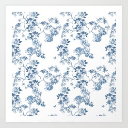 Chinoiserie in White Art Print