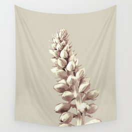 Pink and Grey Plant Art Wall Tapestry