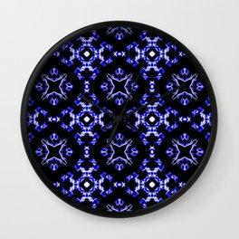 Blue Bandana Pattern Wall Clock