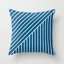 Slant And Down-Blue Throw Pillow