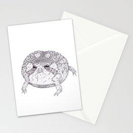 Round boy (desert rain frog) Stationery Cards