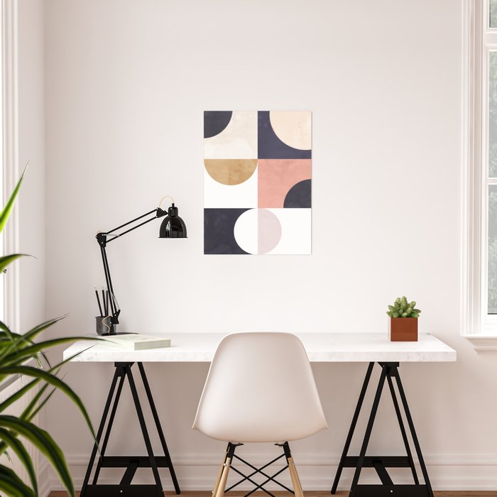 Geometric Moontime 1 Poster