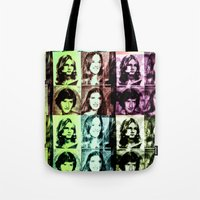 70s Tote Bags featuring 70s by Geni