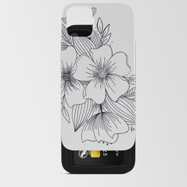 Floral Spray on white iPhone Card Case