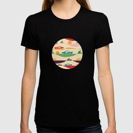 50s Retro Road Trip Beige #midcenturymodern T-shirt