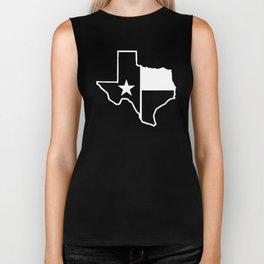 TX Texas State Flag Outline Biker Tank