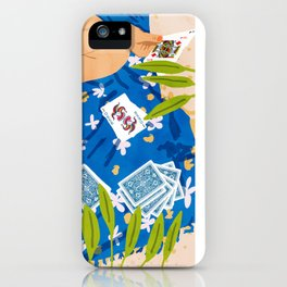 The Hand You Are Dealt Is Determinism, The Way You Play It Is Free Will #painting iPhone Case