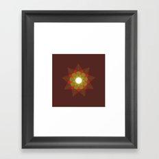 #351 Nine-sided christmas star – Geometry Daily Framed Art Print