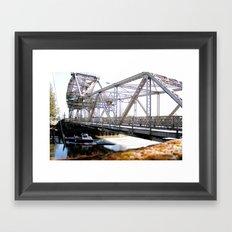 Crossing Under the Bridge Framed Art Print