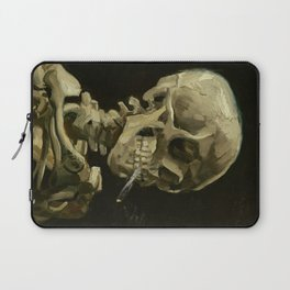 Vincent van Gogh - Skull of a Skeleton with Burning Cigarette Laptop Sleeve