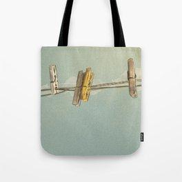 Vintage Clothespin Tote Bag