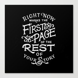 The First Page Canvas Print