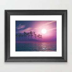 Palm tree island #ocean Framed Art Print