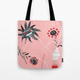Horror flowers Tote Bag