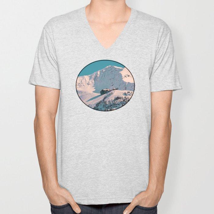 Mt. Alyeska Ski Resort - Alaska Unisex V-Neck