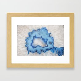 Geode Slice Closeup Framed Art Print