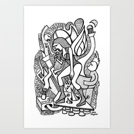 Sing The Glues - PopCore 02 Art Print