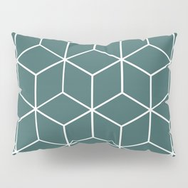 Cube Geometric 03 Teal Pillow Sham