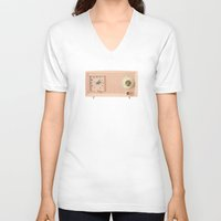 inception V-neck T-shirts featuring Easy Listening by Cassia Beck