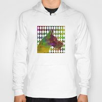 great dane Hoodies featuring Great Dane Jester by Erin Conover
