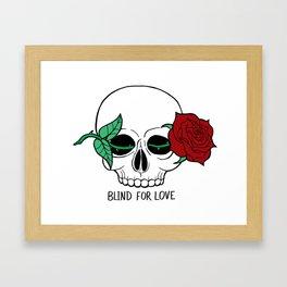 Blind For Love Framed Art Print