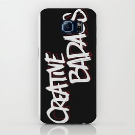 Creative Badass in Black iPhone Case