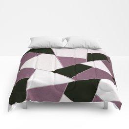 Mauve Black Geometric Glam #1 #geo #decor #art #society6 Comforters