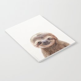 Baby Sloth, Baby Animals Art Print By Synplus Notebook