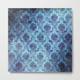 Royal Antique Flower Pattern Metal Print