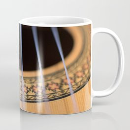 Strings of the guitar above the rose window Coffee Mug