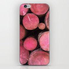 pink woods iPhone & iPod Skin