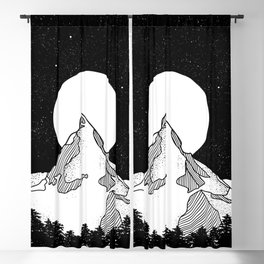 Matterhorn Black and White Blackout Curtain