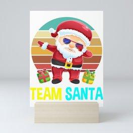 team santa, santa gifts, santa, christmas, ugly christmas, xmas gifts, christmas gifts Mini Art Print