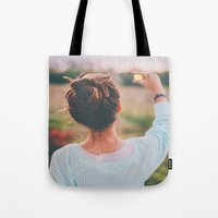 tumblr Tote Bags featuring Tumblr by Amanda Lily