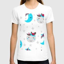 cute moon T-shirt