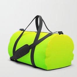 Neon Yellow and Neon Yello Green Ombré  Shade Color Fade Duffle Bag
