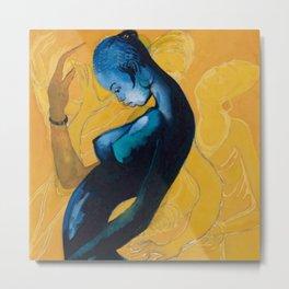 African American Masterpiece 'Afro-Diasporic Beauty' portrait painting Metal Print