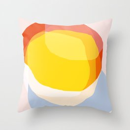 Tropical Sunny Day (Abstract) Throw Pillow