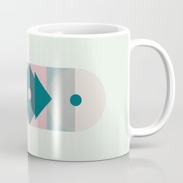 Nr. 2 Geometric Totem Pole Blush Pink and Green Coffee Mug