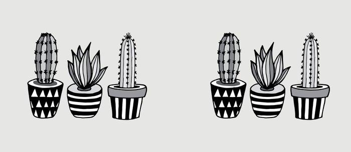 Cactus Plant monochrome cacti nature greyscale illustration floral succulent leaf home wall decor Coffee Mug