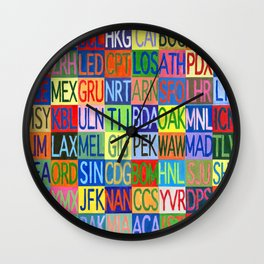 Frequent Flyer Wall Clock