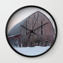 Soft Sunrise on a Winter's Morning Wall Clock