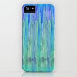 Shadows and Reflections in Shades of Blue and Green iPhone Case