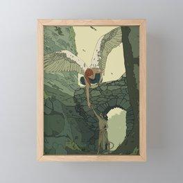 The Angel and Fawn Framed Mini Art Print