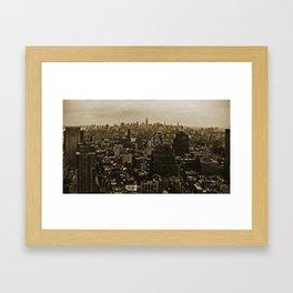 New York Skyline 3 Framed Art Print