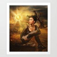 scorpio Art Prints featuring Scorpio by EnchantedWhispers
