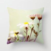 blush Throw Pillows featuring Blush by Sandra Arduini
