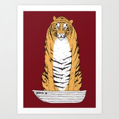 life of pi - red variant Art Print