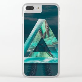 The Bermuda Triangle Clear iPhone Case